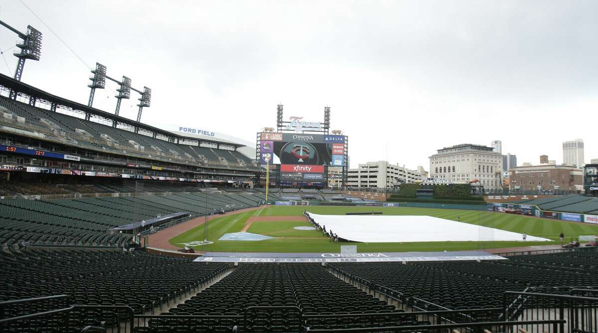Thunderstorms in the Detroit area postponed the Astros-Tigers game on Friday.