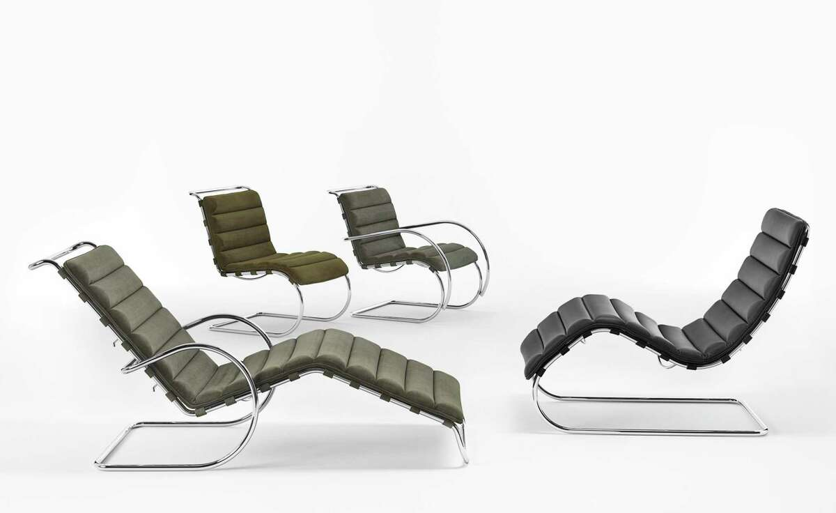 Knoll has added an ottoman to its MR Collection of modern furniture designed by Mies van der Rohe.