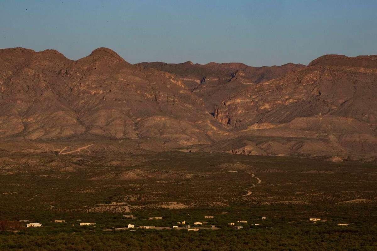 The sun rises over the desert near Candelaria.