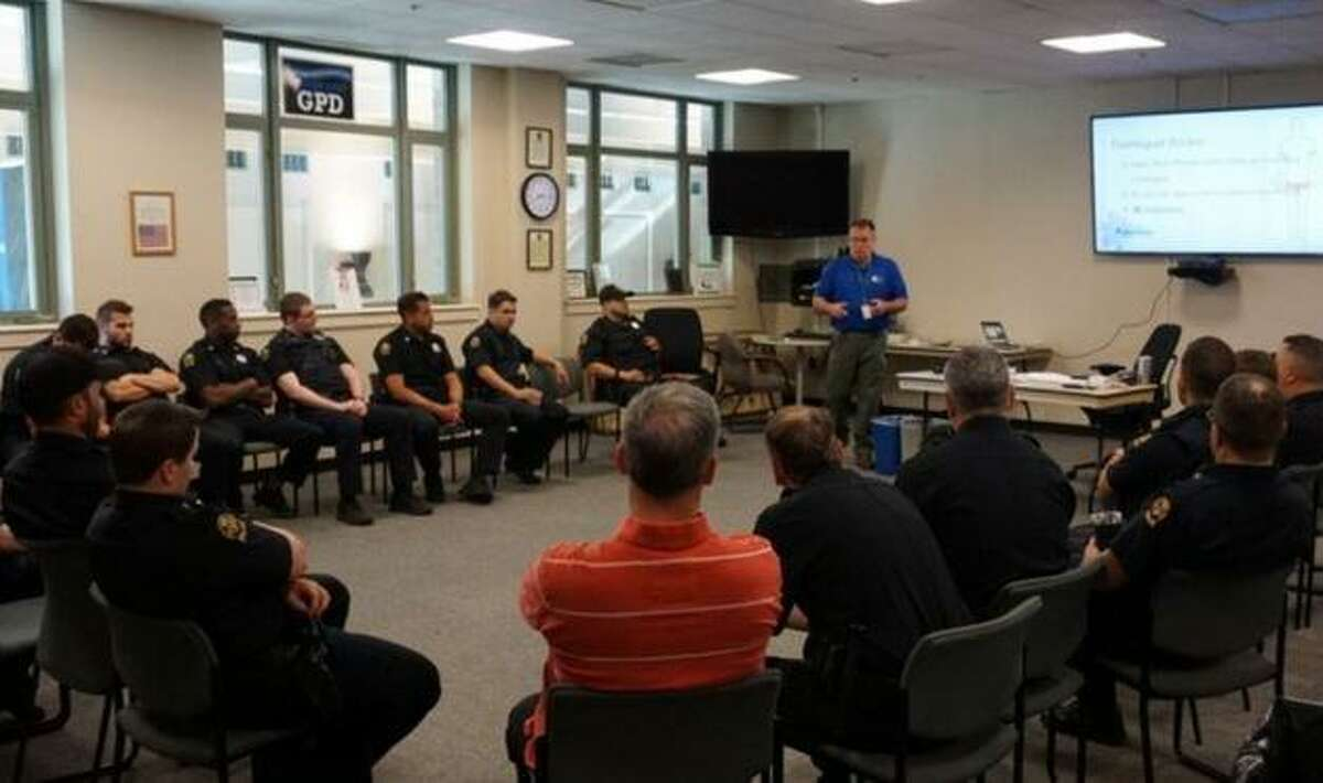 Emergency medical training, leadership training and search techniques were all part of the training regimen at the Greenwich Police Department this month.