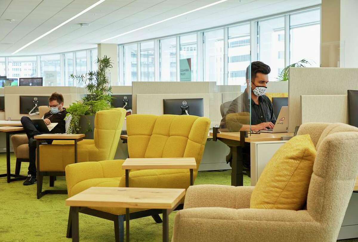 Salesforce says most employees want to have the option to come in to the office, and many only a few times a month.