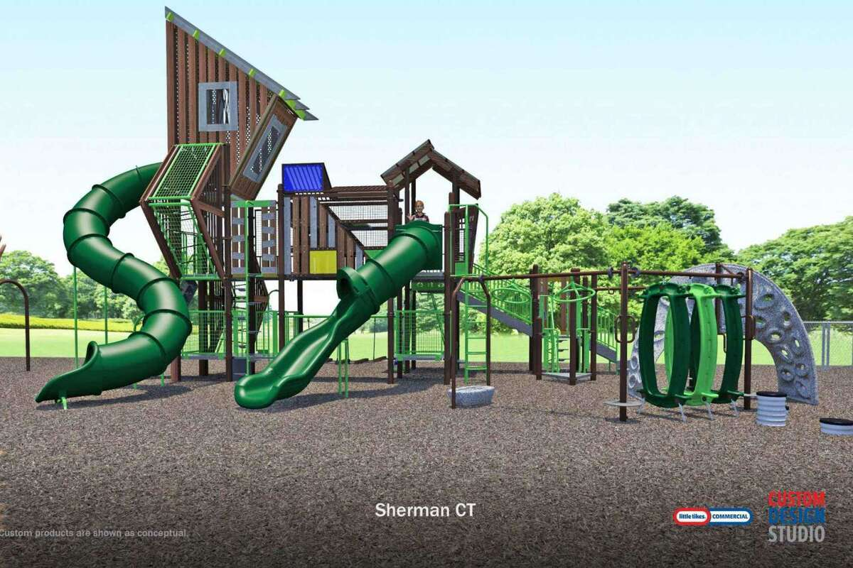 Recommended final design of the proposed new lower playground for Sherman School.
