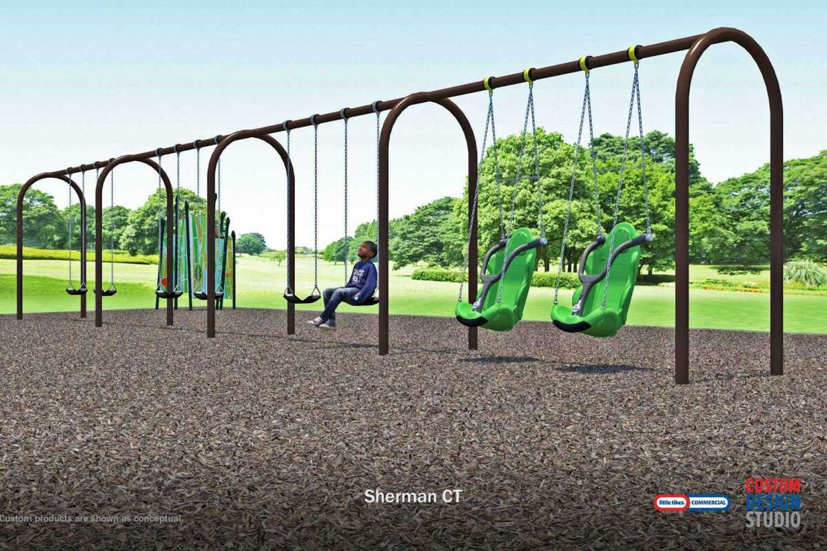 Recommended final design for the Sherman School playground as part of the school board's proposed improvement project.