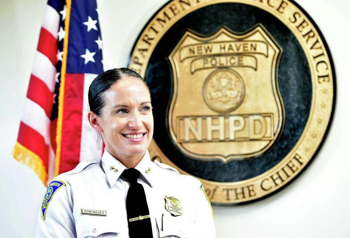 Interim New Haven Police Chief Renee Dominguez, March, 2021.