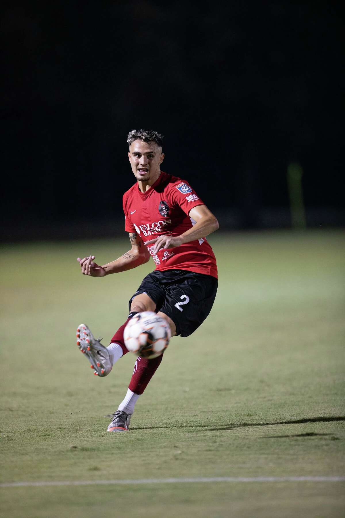 Gabriel Claudio scored one of four goals for the Heat in Wednesday's 4-0 win over FC Brownsville at the TAMIU Soccer Complex.