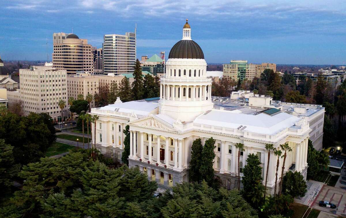 The California state Capitol in Sacramento on Jan. 6, 2021. California has reinstated a mask mandate for all legislators and employees at the Capitol regardless of vaccination status following an outbreak of nine COVID-19 cases there.