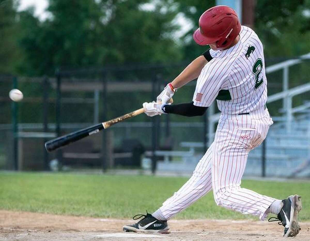 Alec Nigut of the Alton River Dragons had one of the team's four hits and scored the only run in Friday's 5-1 loss to Clinton, Iowa at Lloyd Hopkins Field.
