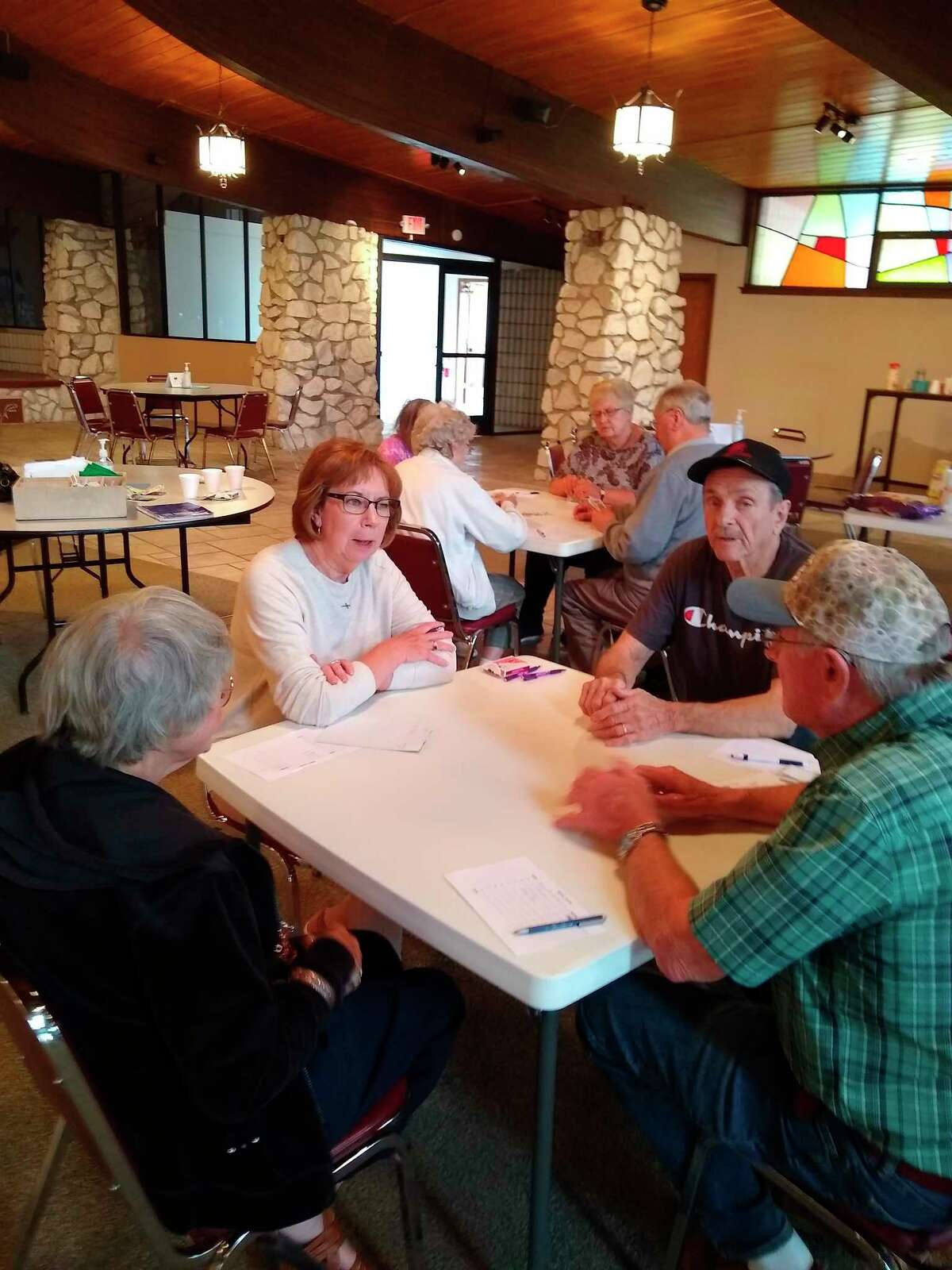 With the Manistee Senior Center opening 100%, the Monday afternoon Pinochle group is back in action. Many new and former activities have resumed. Cribbage, chess, and soon the bridge group will start back up again. (Courtesy Photo)