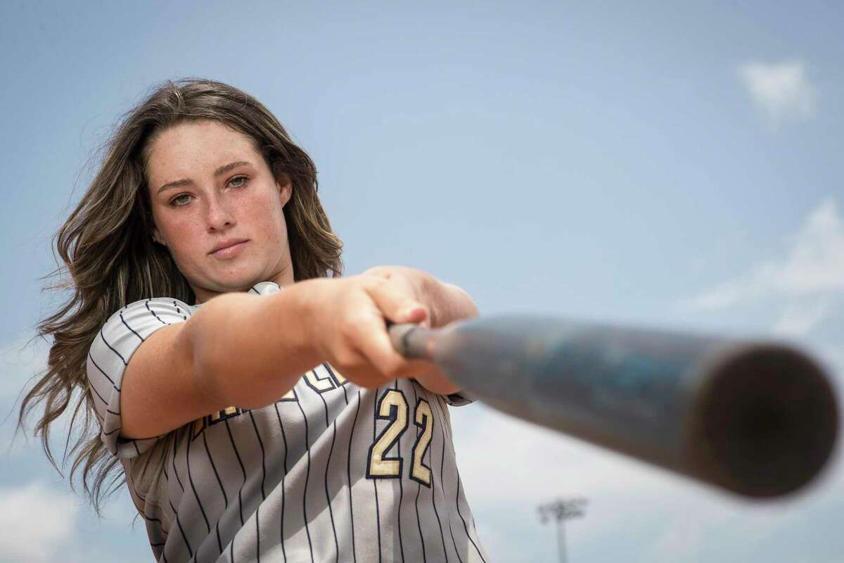 Lake Creek High School sophomore softball player Ava Brown poses for a portrait Monday, June 21, 2021 in Montgomery. Brown is the Chronicle's All Greater Houston Softball Hitter of the Year. This past spring she hit .591 with 17 homer runs, 22 doubles and 65 RBI.