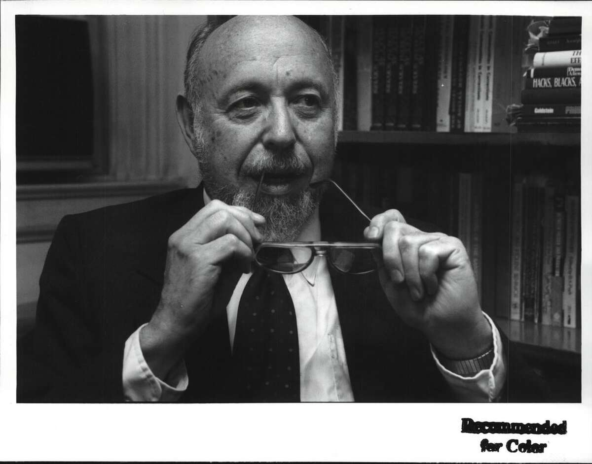 Hans Toch, one of the founding faculty members of UAlbany's School of Criminal Justice, died June 18, 2021 at age 91. He retired in 2008. (Luanne Ferris/Times Union Archive)