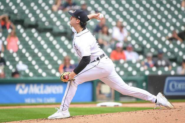 DETROIT, MICHIGAN - JUNE 26: Casey Mize #12 of the Detroit Tigers delivers a pitch against the Houston Astros during the top of the third inning in game one of a doubleheader at Comerica Park on June 26, 2021 in Detroit, Michigan. Photo: Nic Antaya, Getty Images / 2021 Getty Images