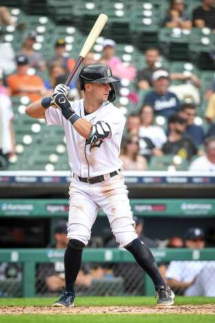 DETROIT, MICHIGAN - JUNE 26: Zack Short #59 of the Detroit Tigers is at bat against the Houston Astros during the bottom of the fifth inning in game one of a doubleheader at Comerica Park on June 26, 2021 in Detroit, Michigan. Photo: Nic Antaya, Getty Images / 2021 Getty Images