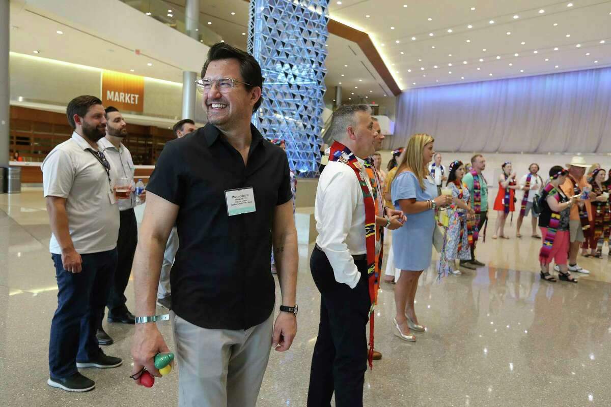 Marc Anderson, the new CEO of Visit San Antonio, joins top convention officials from around the U.S. on a tour through the Henry B. Gonzalez Convention Center in hopes of attracting future conventions and food events in San Antonio on Monday, June 21, 2021.