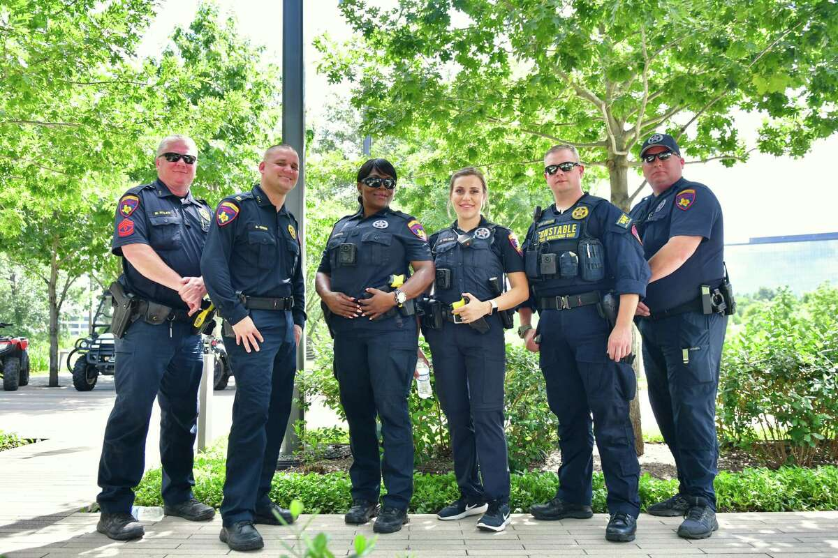 Harris County Pct. 4 invited the community to a Spring Creek Greenway trail extension celebration at CityPlace in Springwoods Village Saturday, June 26, 2021. The Harris County Pct. 4 Constables Office was among the entities attending the event.