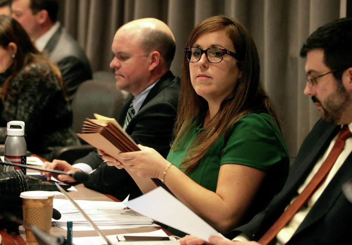 State Sen. Mae Flexer, D-Windham, co-chairwoman of the General Assembly's Government Administration & Elections Committee, in a 2018 file photo.