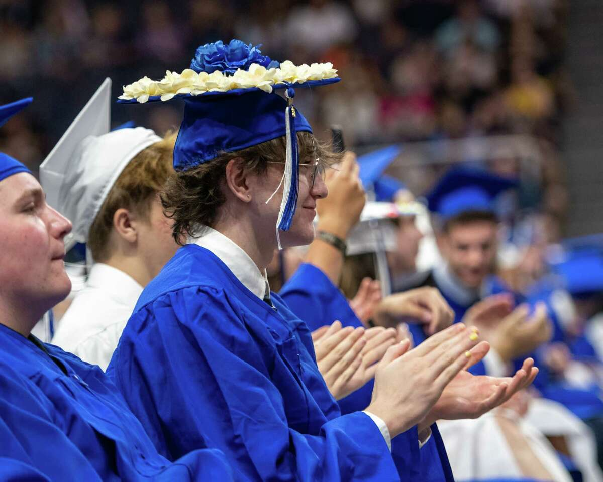 Members of the Shaker High School class of 2021 at the Times Union Center in Albany, NY, on Saturday, June 26, 2021 (Jim Franco/Special to the Times Union)