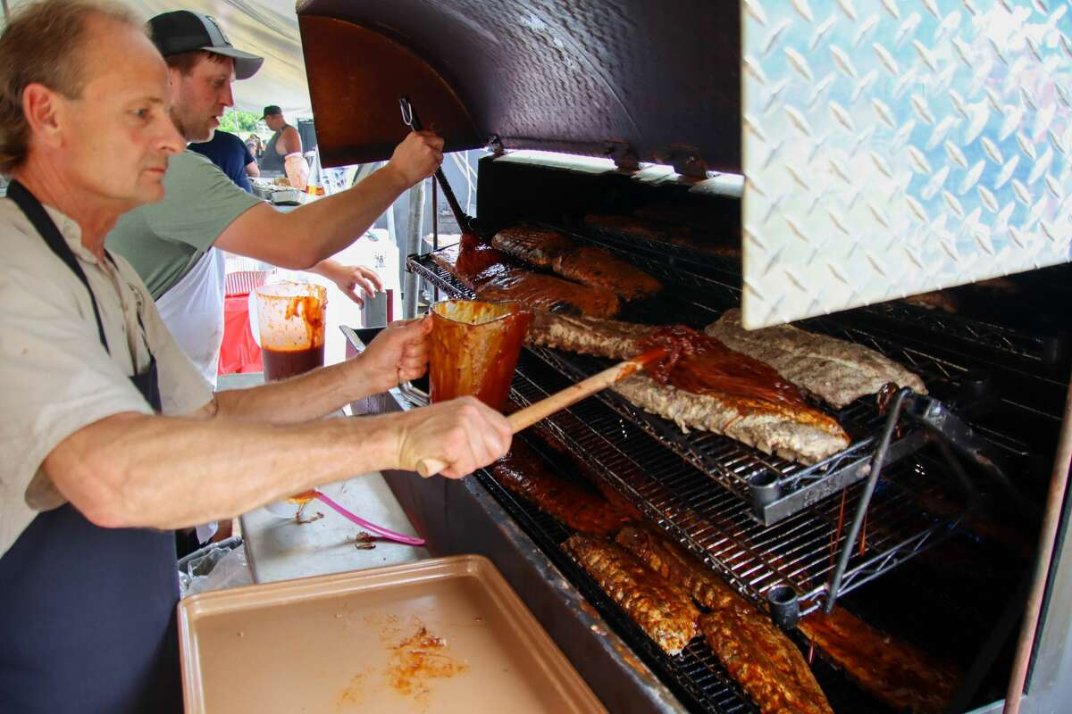Rain showers didn't stop rib lovers from attending Caseville's annual Ribstock event June 26.