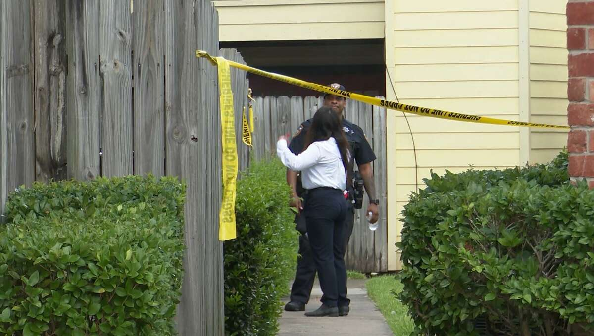 A man was found shot to death Saturday at an apartment in Harris County.