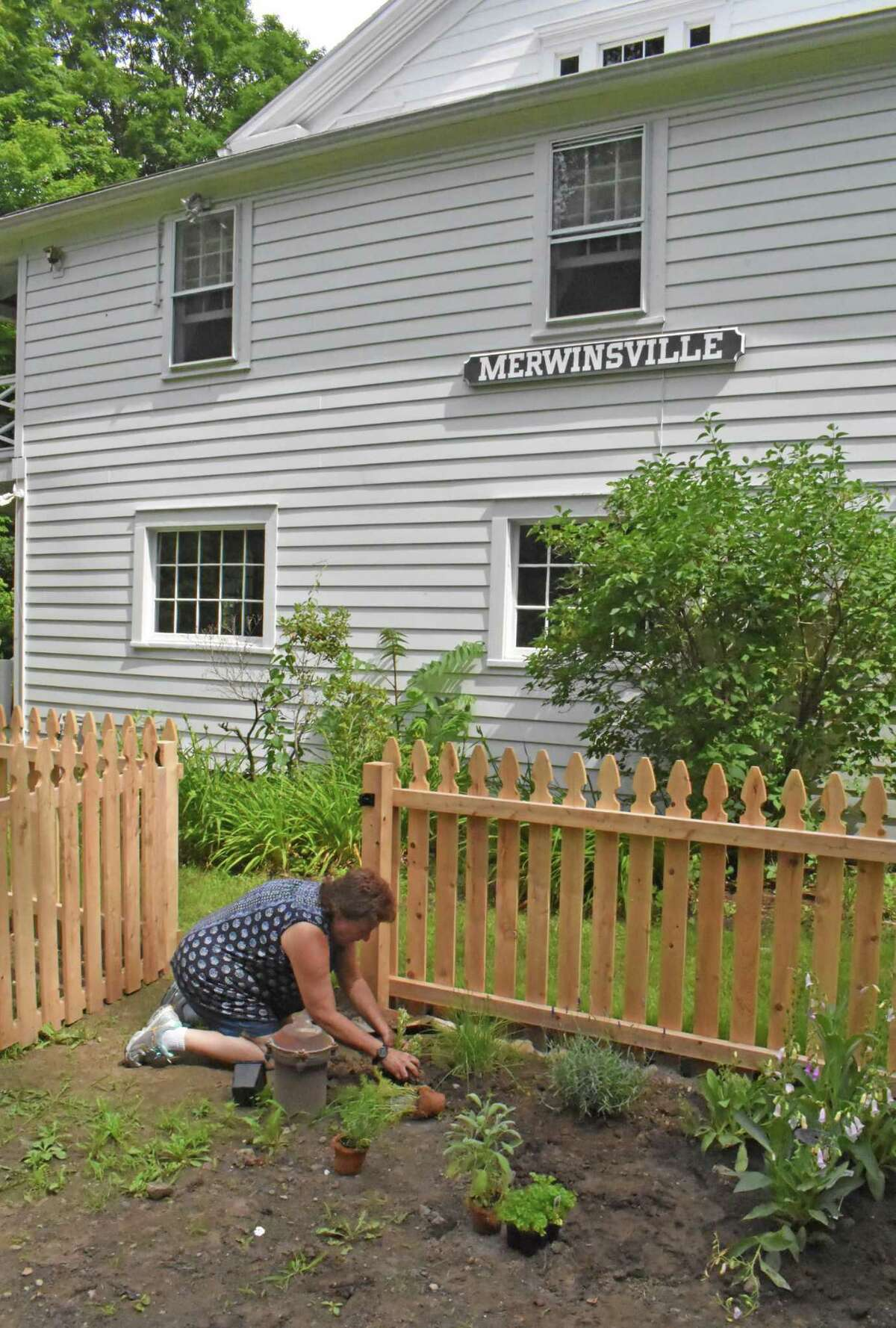 The Merwinsville Hotel in Gaylordsville, where a kitchen garden was installed a couple years ago.