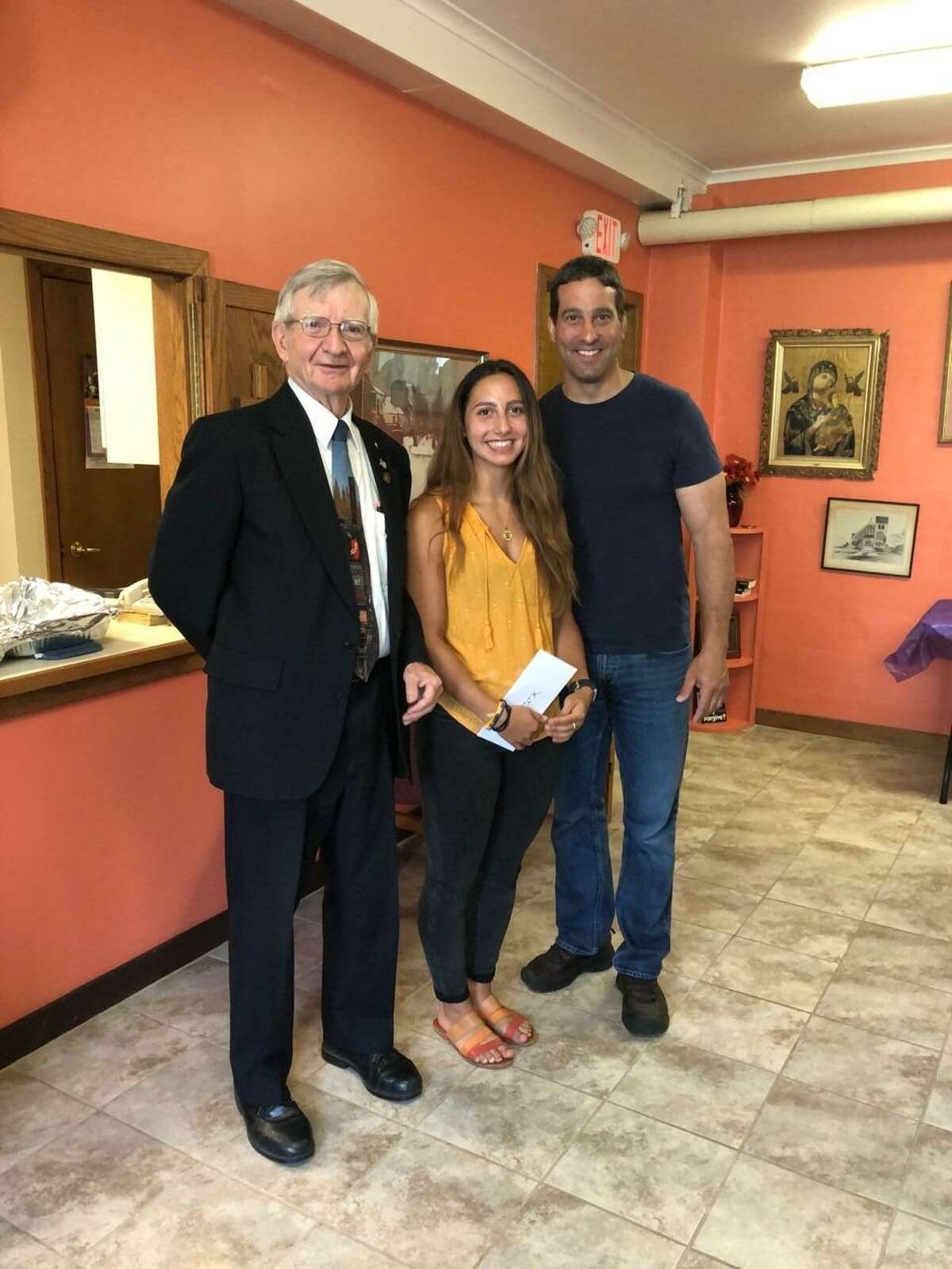 From left, David DeWitt, Katalina Mancinone, and Joseph Mancinone. Recipient Eilish Crossley was not available for the photo and Crossley's father, Douglas Crossley, accepted the award for her.
