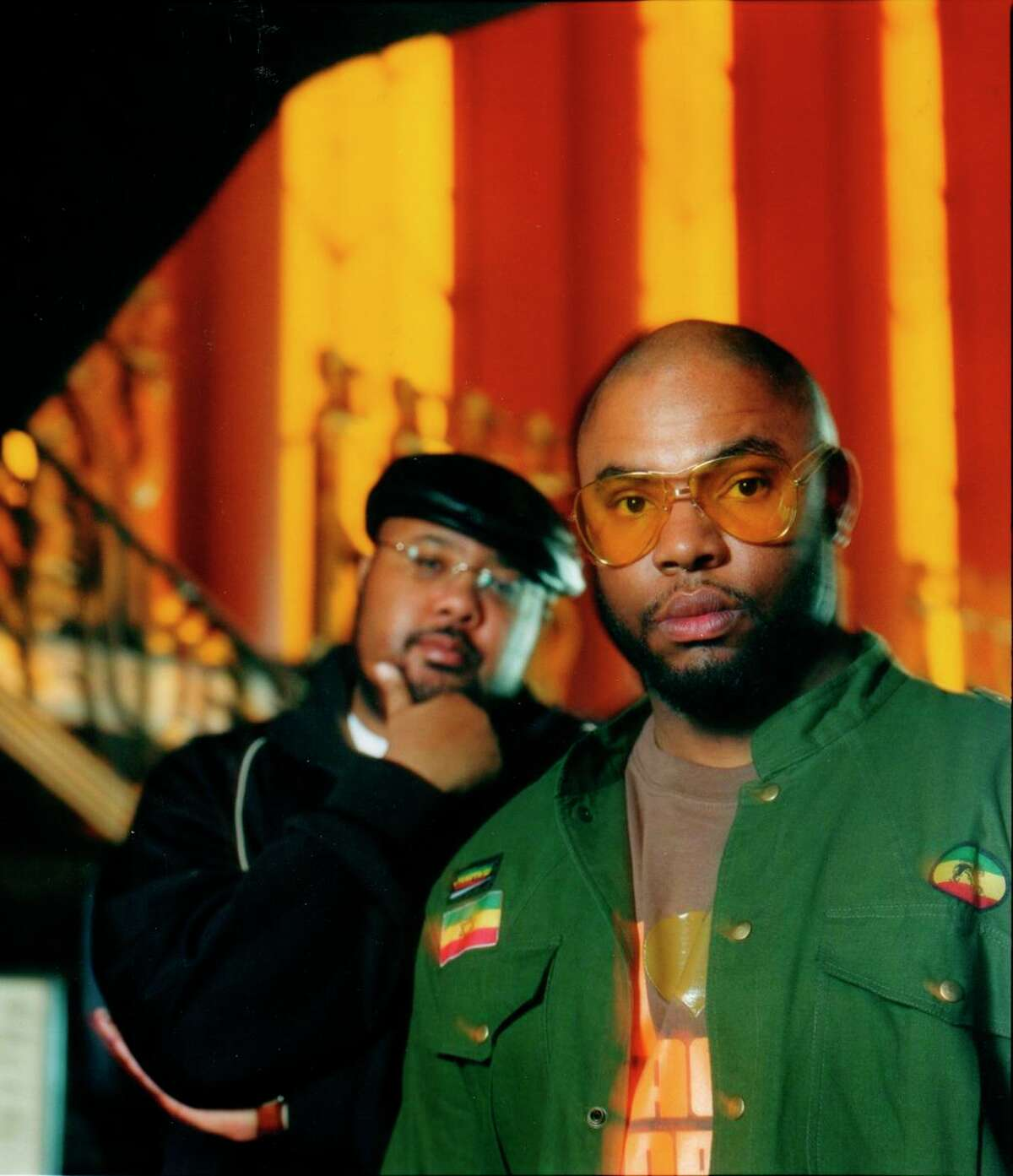 Timothy J. Parker, a.k.a Gift of Gab (left), and Chief Xcel performed as Blackalicious. Parker was known for his verbal acrobatics.