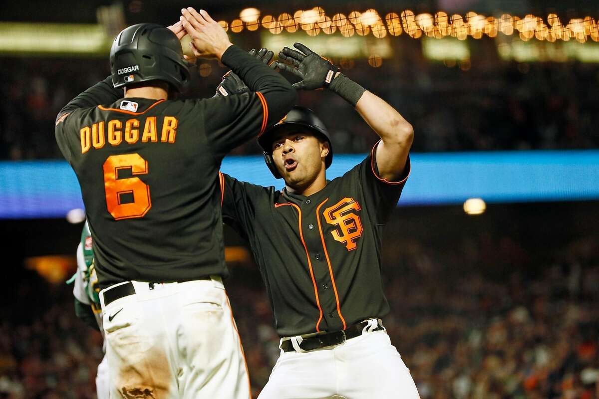 Non-marquee players Steven Duggar (6) and LaMonte Wade Jr. have helped drive S.F.