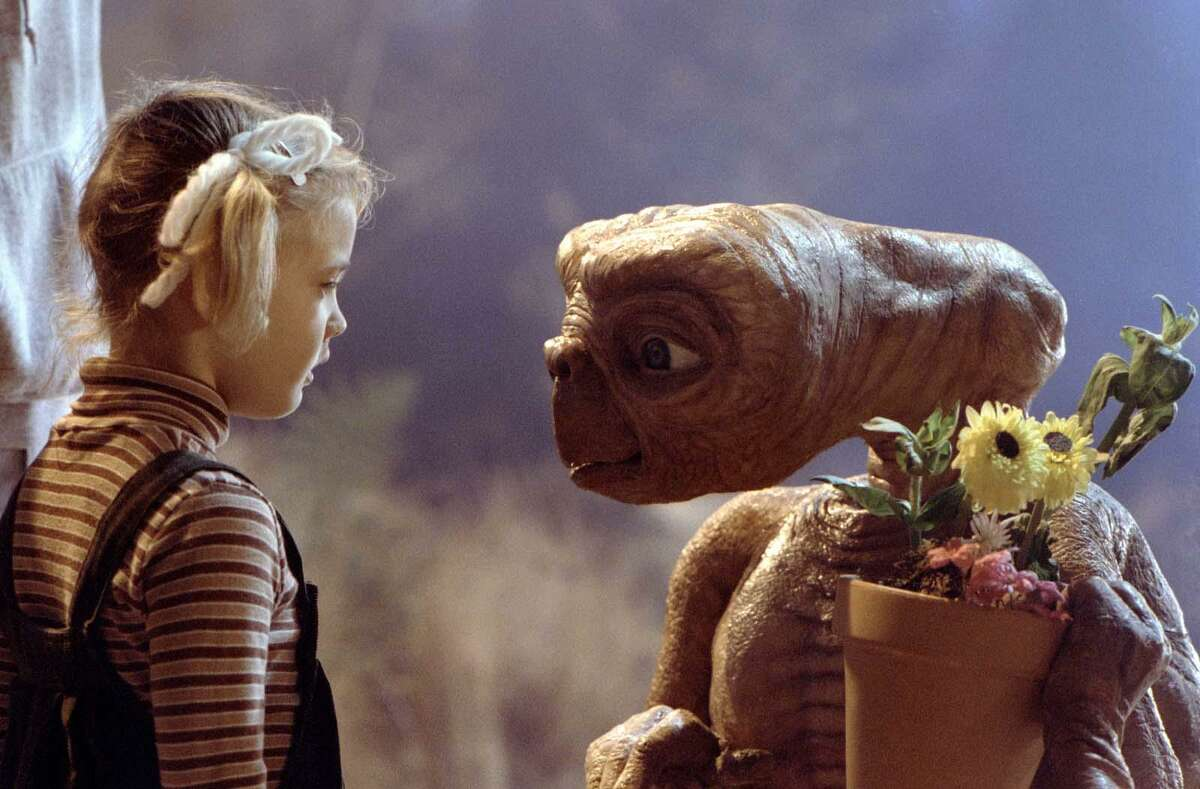 """Gertie (Drew Barrymore) says goodbye to E.T. in the """"E.T. The Extra-Terrestrial."""""""