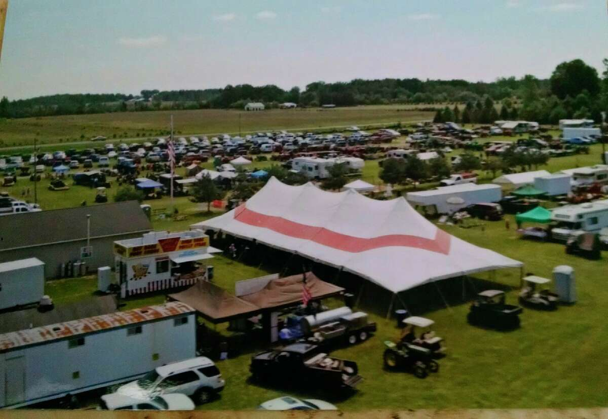 This is the Big Top on 13 acres of property owned by the Midland Antique Engine Association between Midland and Merrill. The 33rd annual Celebration of the Midland Antique Engine Association will be held July 9-11. (Photo by Sheri Riggie)