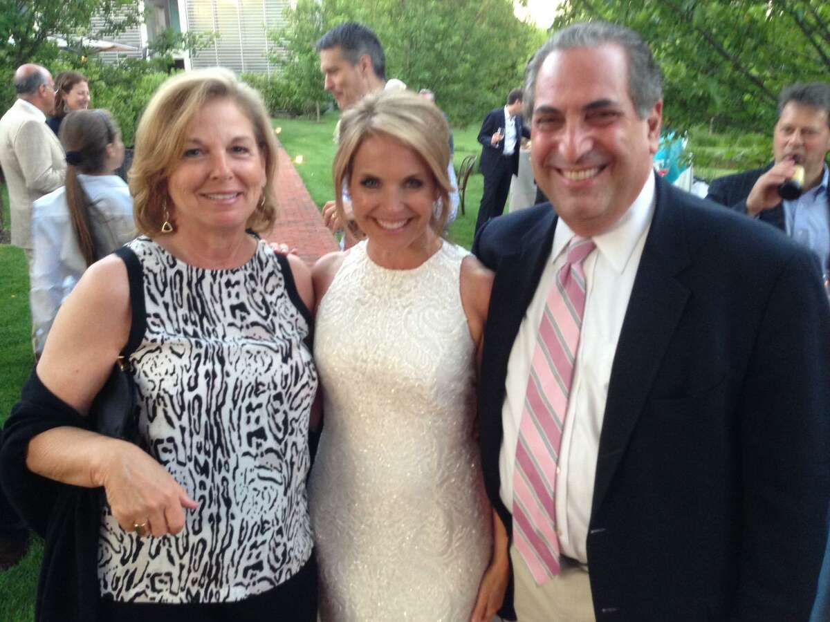 From left, Pamela Goldman, Katie Couric, and Kevin Goldman