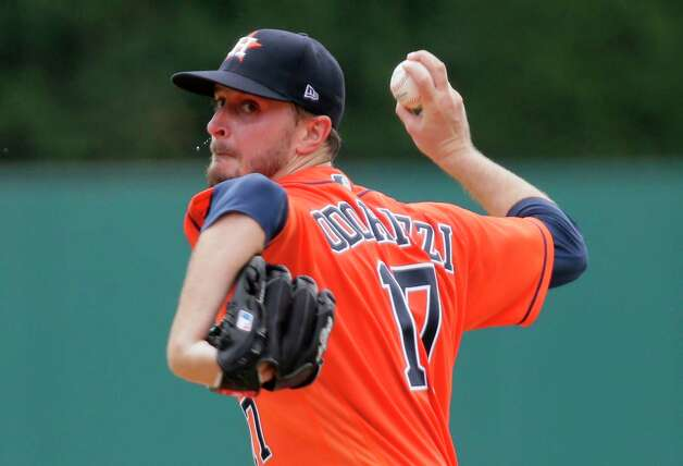Houston Astros' Jake Odorizzi pitches against the Detroit Tigers during the third inning of a baseball game Sunday, June 27, 2021, in Detroit. (AP Photo/Duane Burleson) Photo: Duane Burleson, Associated Press / Copyright 2021 The Associated Press. All rights reserved.
