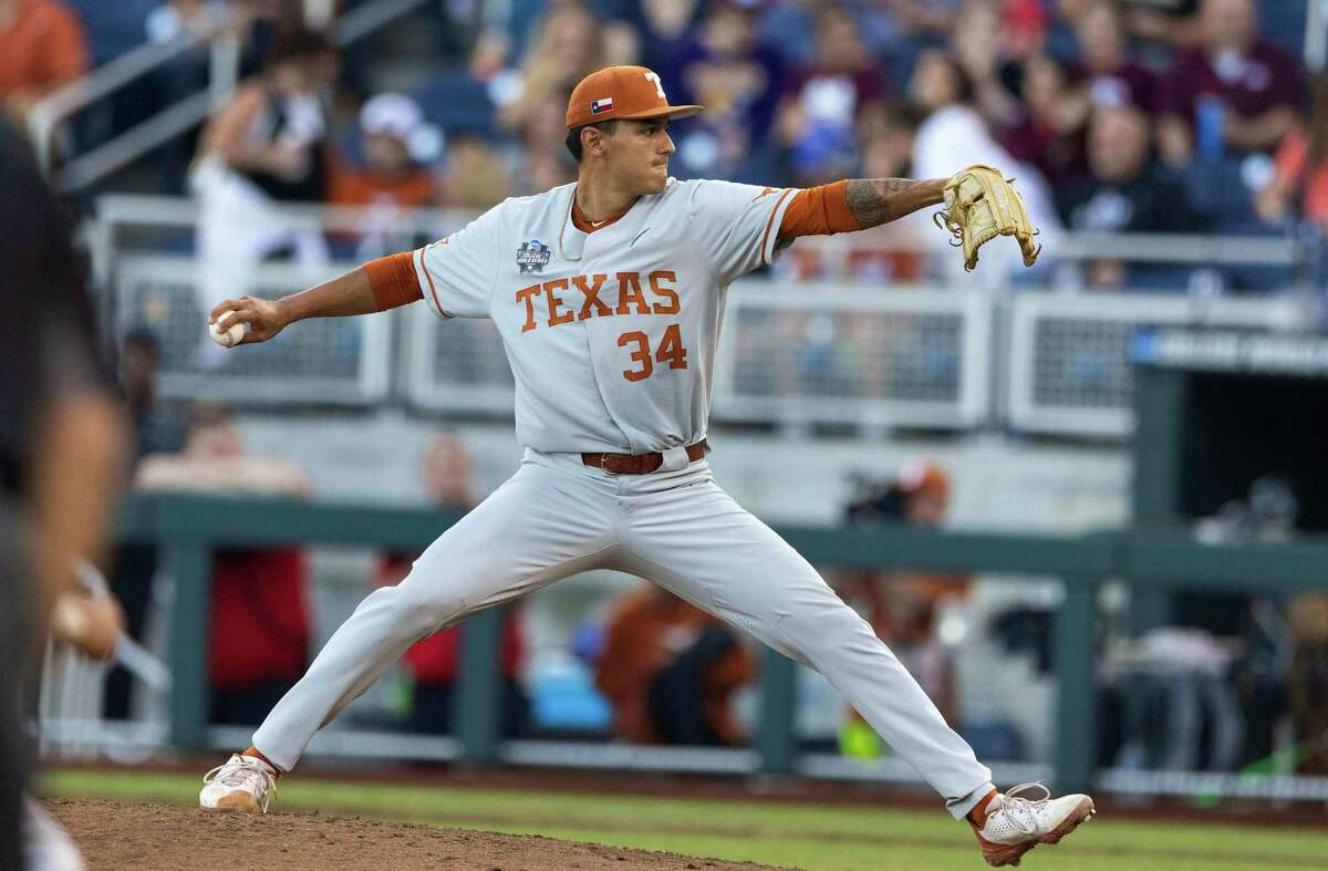 Texas reliever Cole Quintanilla gave the Longhorns a season- high 49 pitches over 31/3 tense innings Saturday night but was tagged with his first loss of the season.