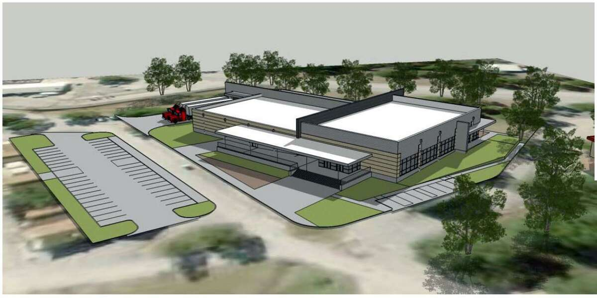 An artist's rendering of the new Camp Bullis dining hall.