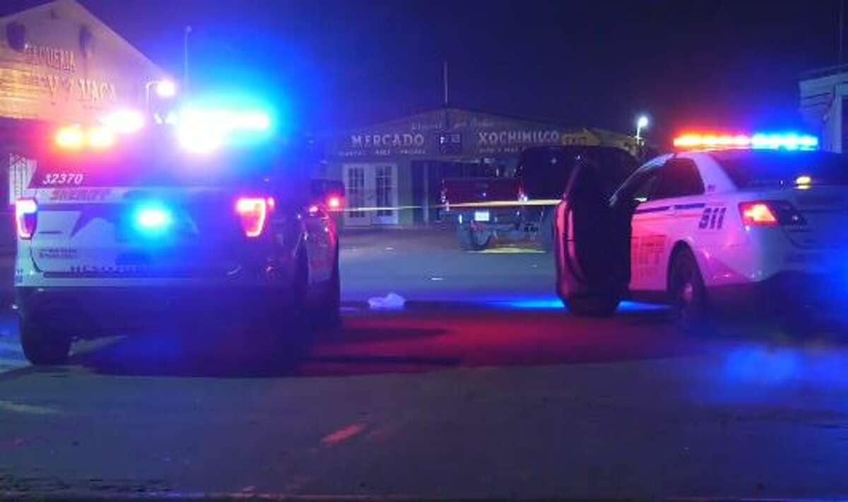 A man shot several rounds into a medium-sized crowd, striking three people around 8:30 p.m. at the De Buey Y Vaca Flea Market at 8720 Airline Drive near W. Louise Road, detectives said.
