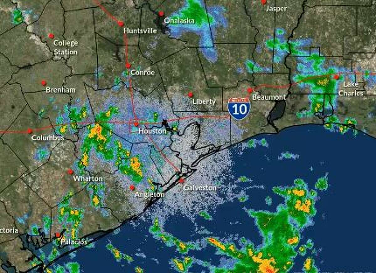 Heavy downpours and reduced visibility are expected Monday morning, as scattered showers and storms move into the Houston region, according to the National Weather Service.