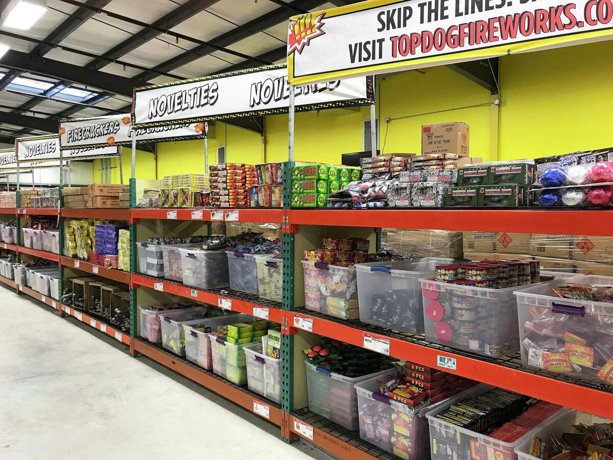 TopDog Fireworks Warehouse is stocked to the walls for now, but is encouraging customers to get in the stores early for a 20 percent discount and to pick up their favorite fireworks. With supplies short, there's no guarantee that fireworks will be available toward the end of the season.
