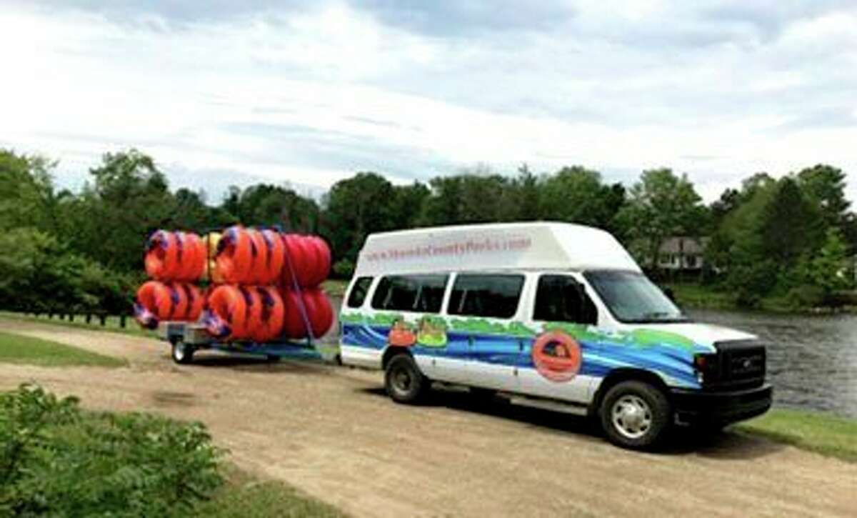 Tubes are transported from the Paris Park location to the Green Township or Hersey launch for tubers to float the river. (Submitted photo)