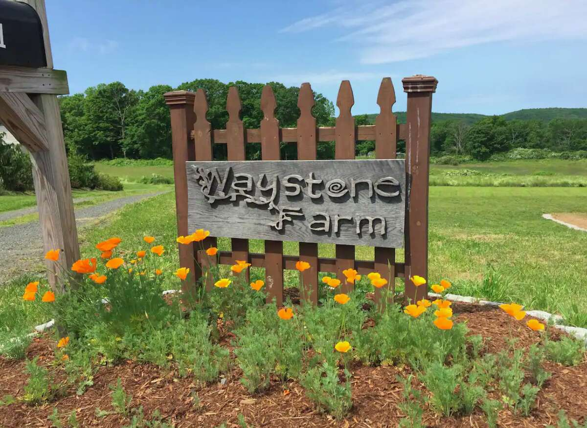 The sign at Waystone Farm in Guilford.