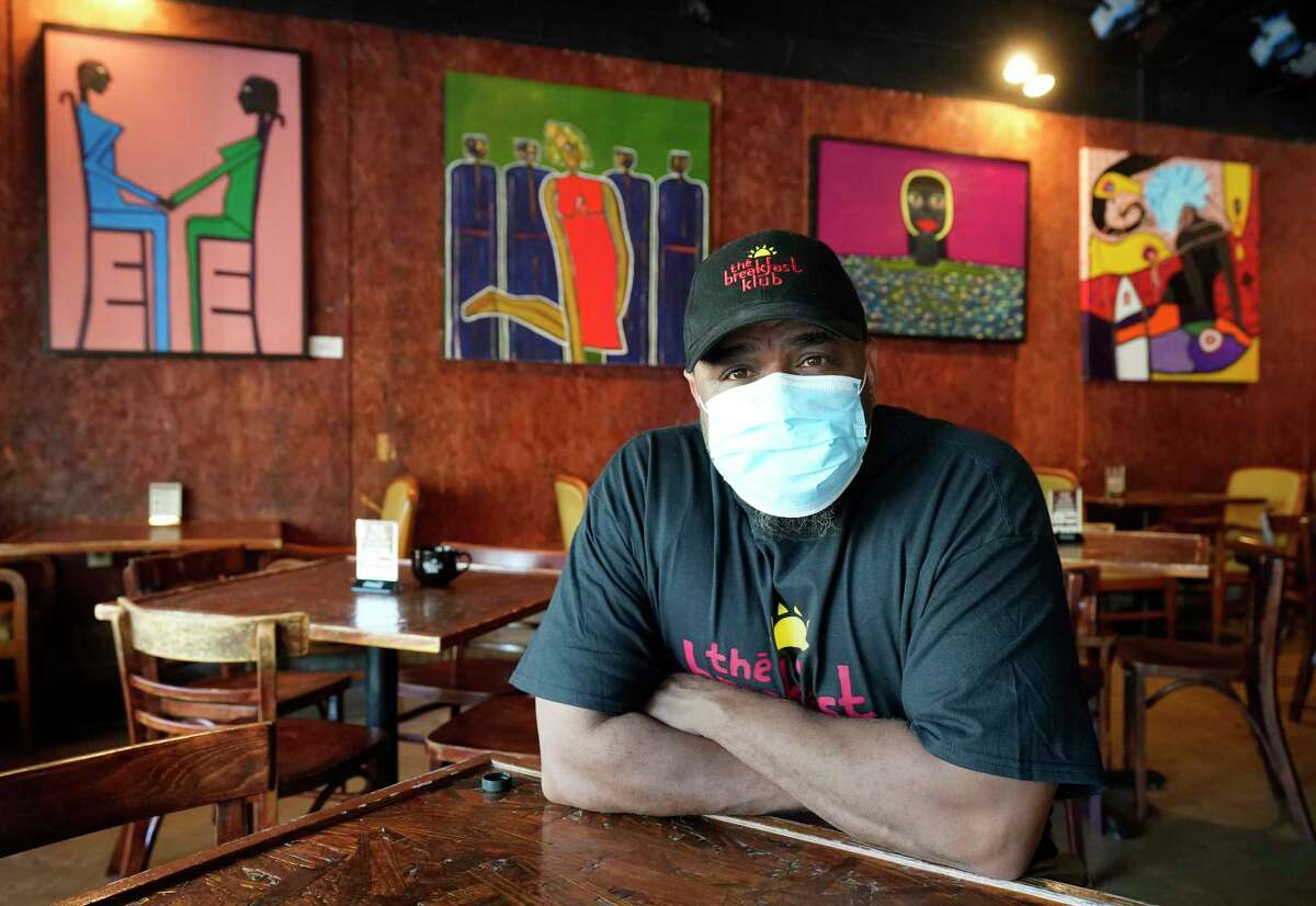 Marcus Davis, owner of the Breakfast Klub, 3711 Travis St., shown Monday, May 11, 2020, in Houston was able to secure a Paycheck Protection loan, but is still struggling as business remains subdued and social distancing rules limit restaurants to 25 percent capacity amid the Covid-19 pandemic.