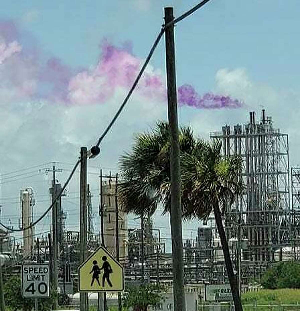 An unusual purple plume at Eastman Chemical Texas City caught attention over the weekend. The company said there was no cause for the community to be concerned.
