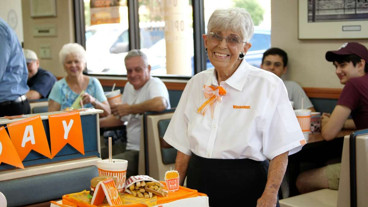 Last weekend, the beloved fast-food chain hosted a 90th birthday party for a longtime San Antonio employee, Joan Queller.