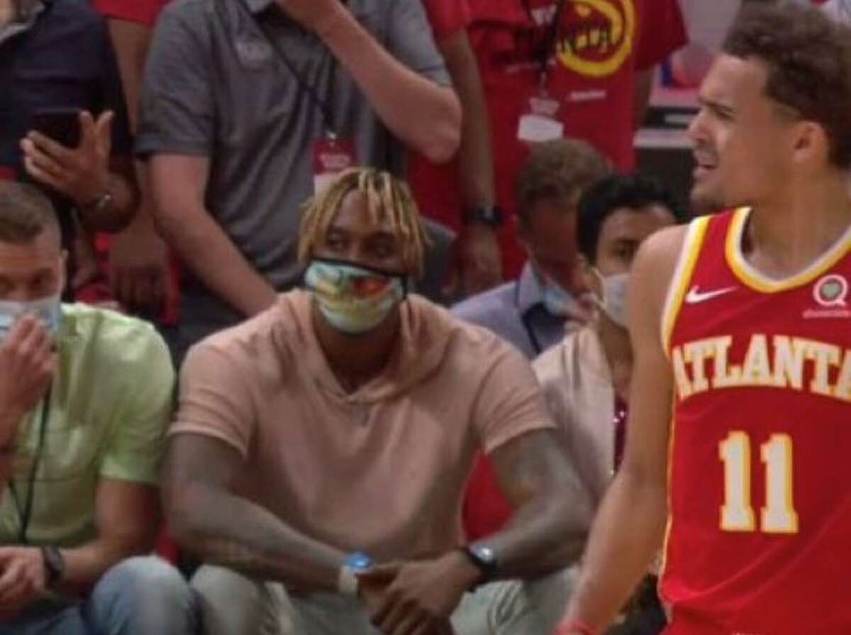 TNT cameras caught Dwight Howard sitting courtside at Game 3 of the Hawks-Bucks series on Sunday night, just a week after the Hawks eliminated his 76ers.