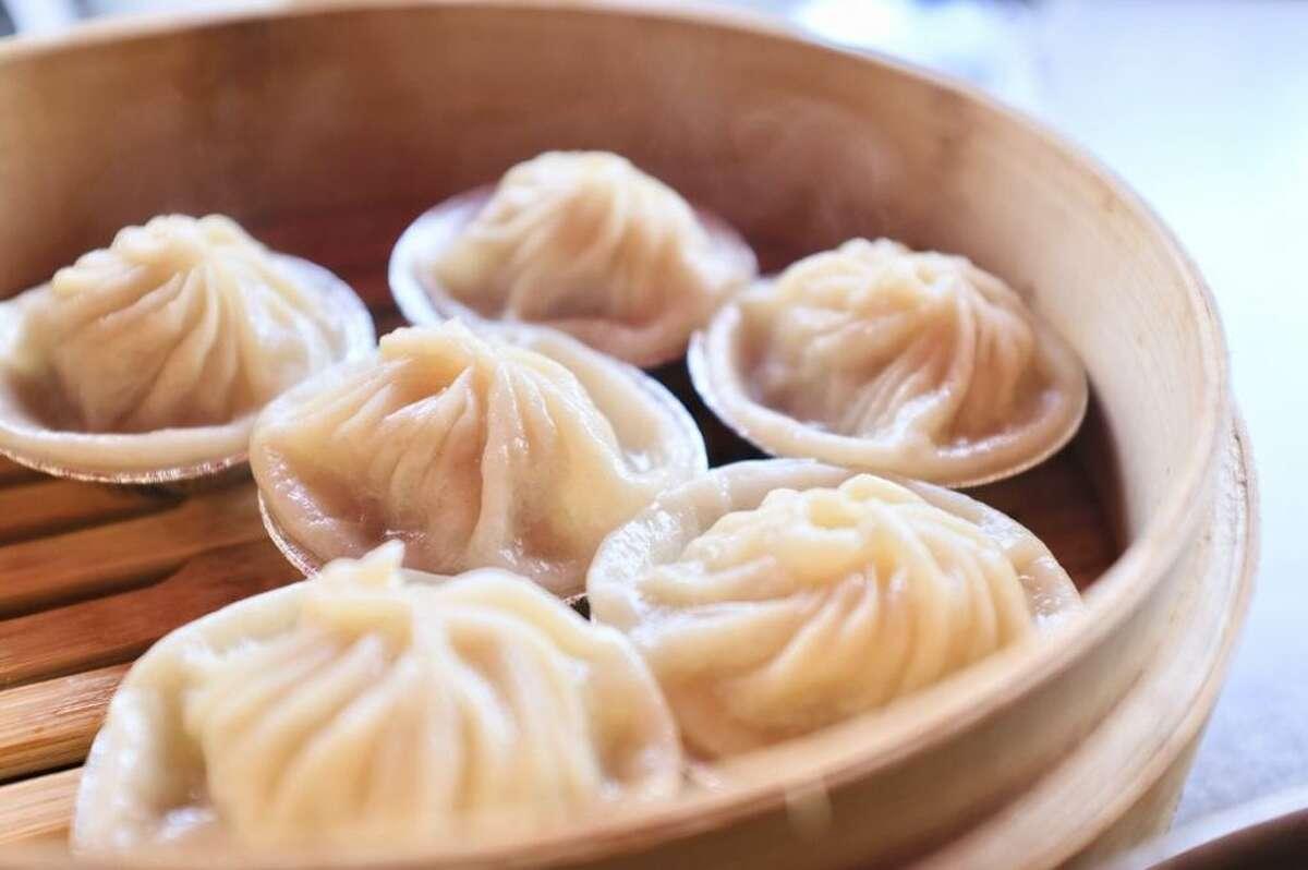 Pork dumplings at Dumpling Time.