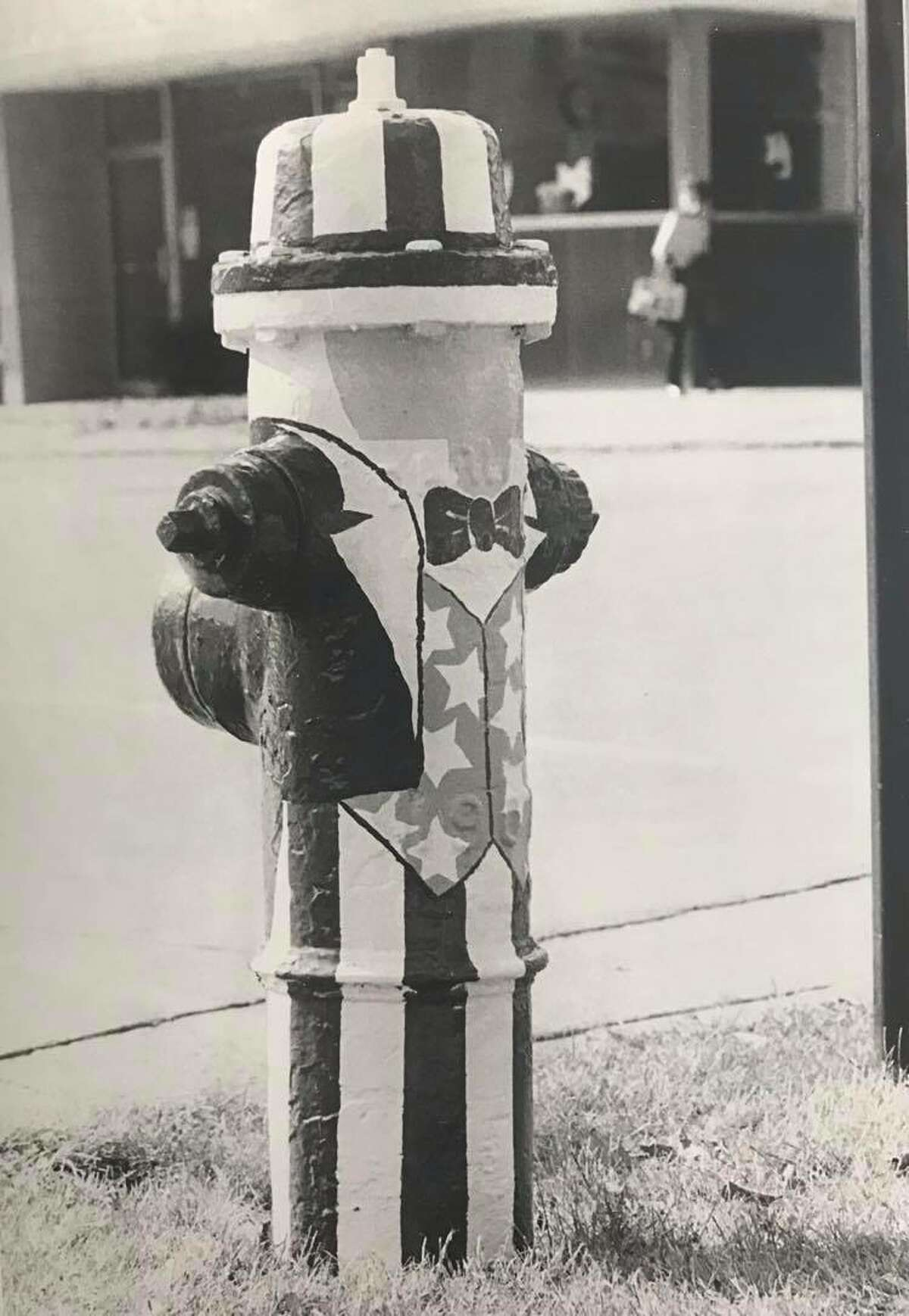 One of the patriotic hydrants. October 1975