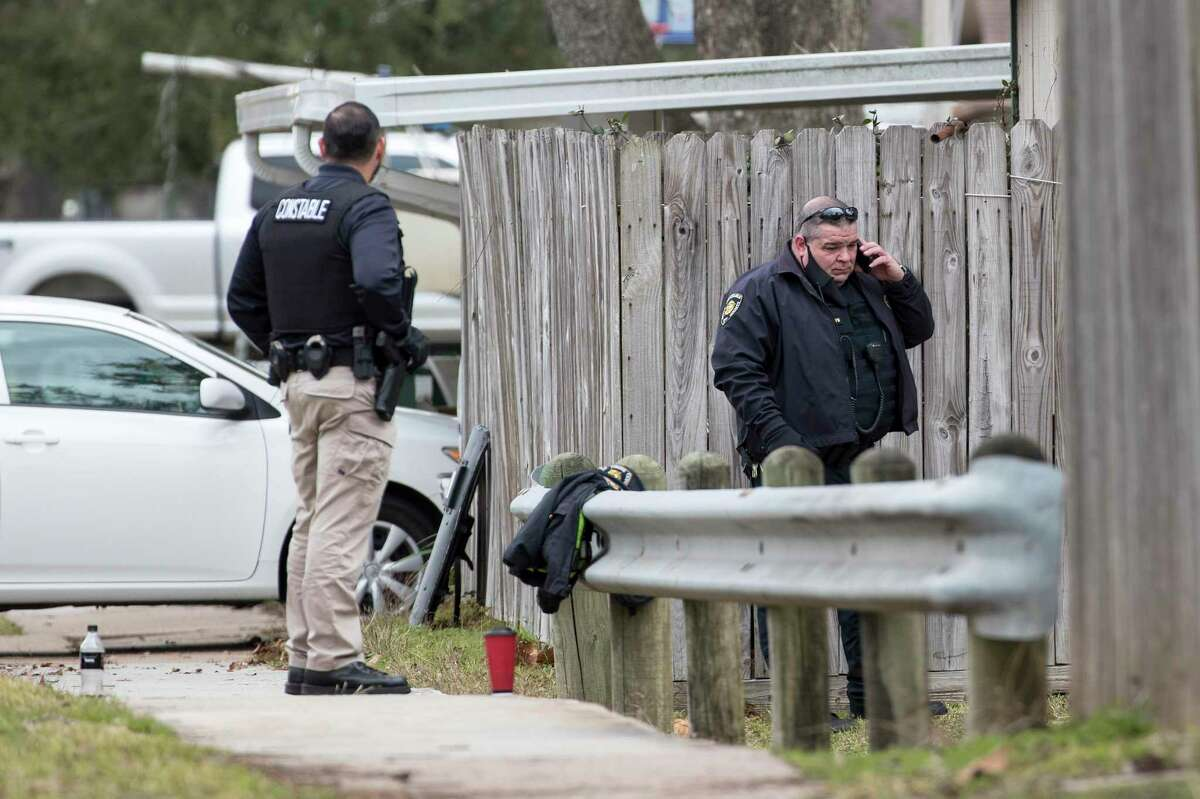 Harris County Precinct 8 Constable's Office were involved in a forced eviction that resulted in a SWAT situation a block from Deer Park Elementary, according to officials on Jan. 8, 2021 in Deer Park.