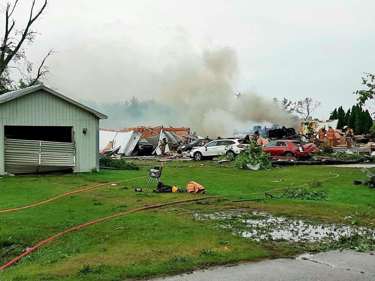 Six people in this residence where injured when an EF-2 tornado hit the home. (Emergency Manager Randy Miller/Courtesy Photo)