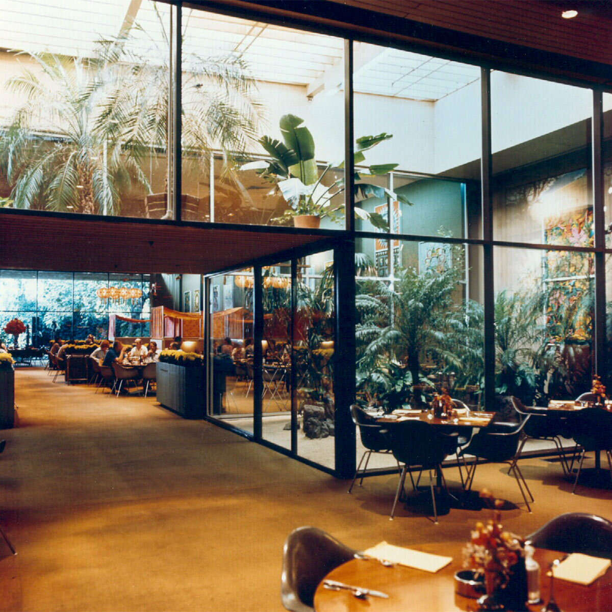 A view of the glass aviary inside the Nut Tree Restaurant in Vacaville. The restaurant closed in 1996 with the rest of the business after a family feud.