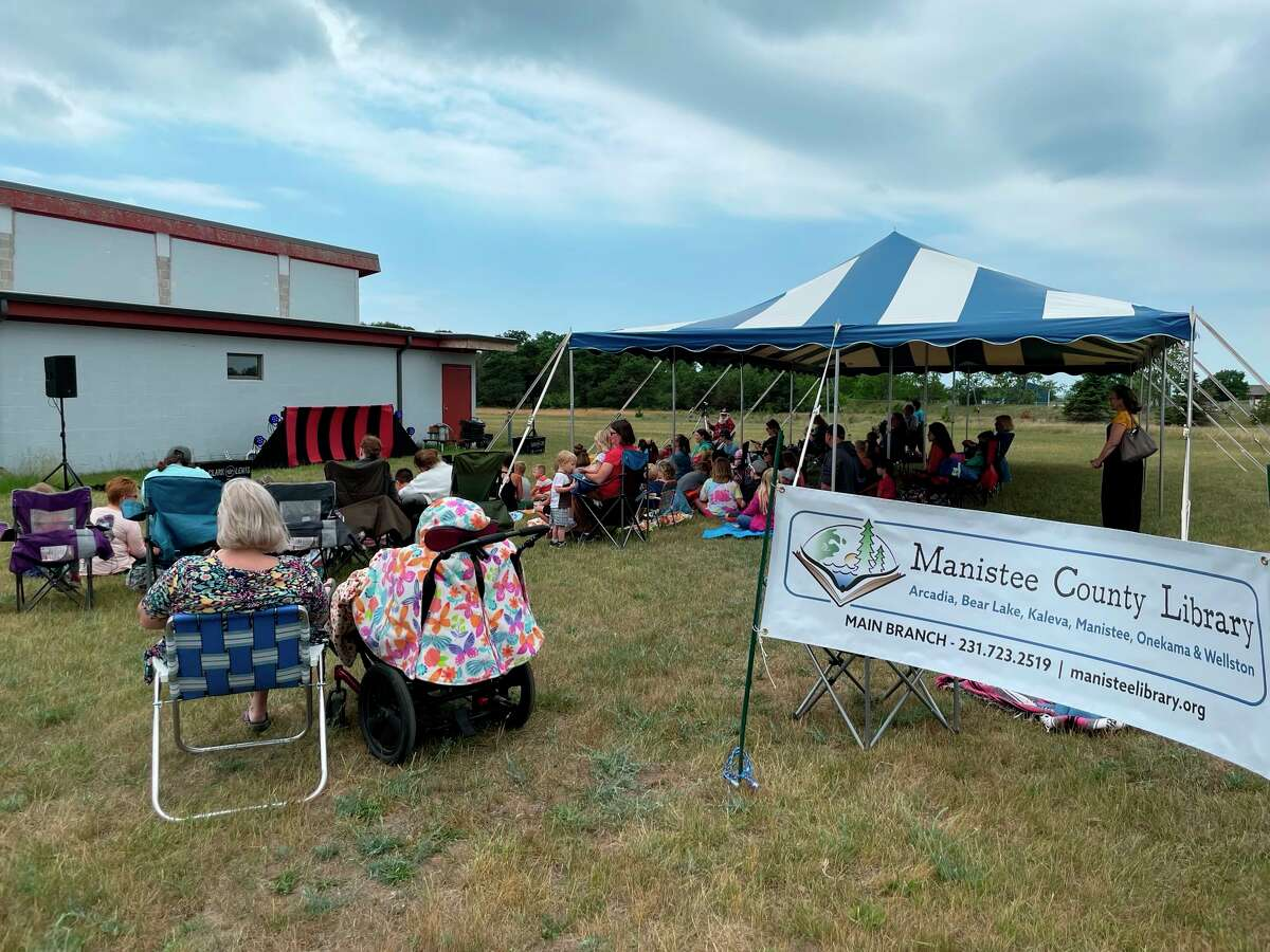 Over 150 people came out to see juggler Clark Lewis perform at the Wagoner Center on Wednesday in an event hosted by the Manistee County Library. (Courtesy photo)
