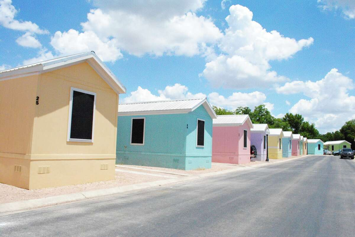 Beau Village is a tight-knit community of brightly colored tiny homes in New Braunfels. Director of Operations Carolina Kuhn says she and the owner Barbara Wrobel describe the cottages of having a beachy feel.