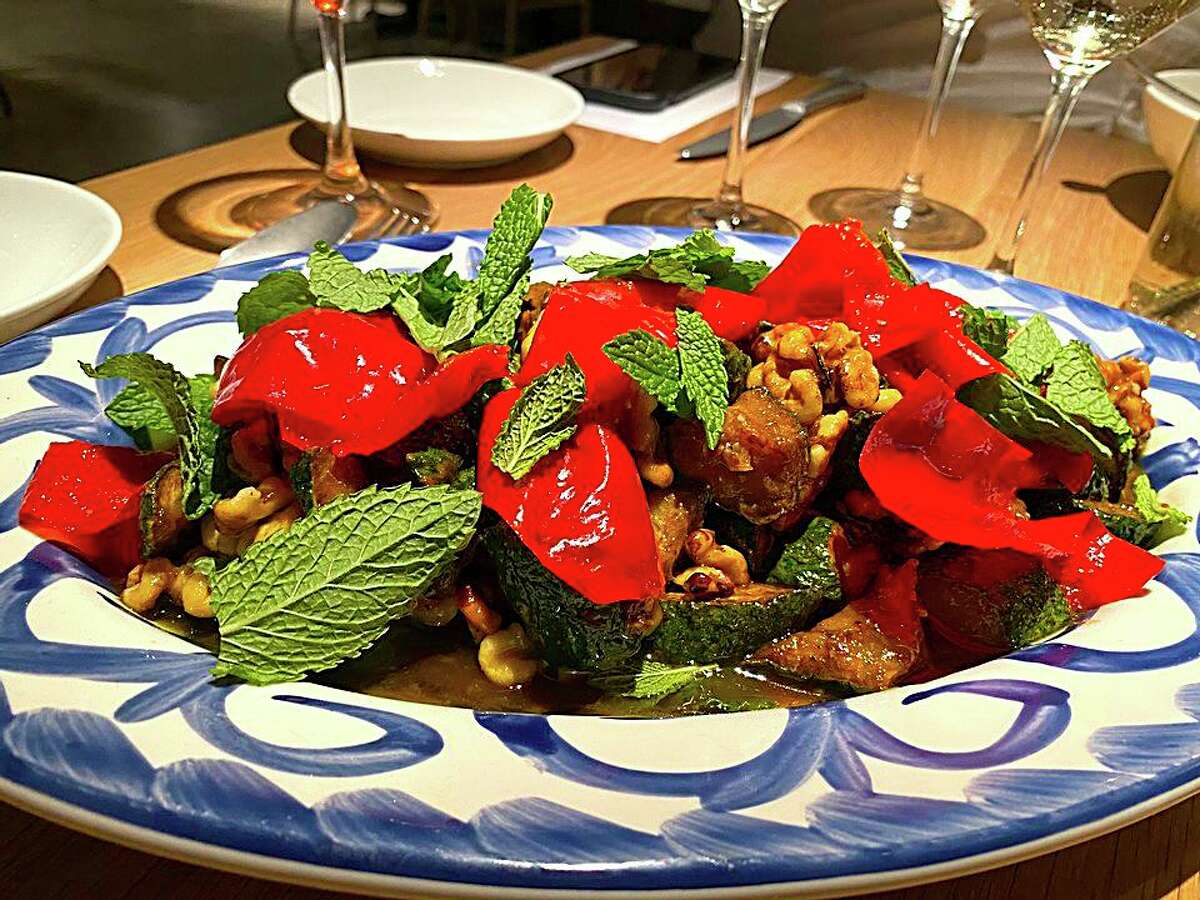 Colorful roasted veggies are among the dishes being planned for the menu of Allora, a new Italian restaurant coming to the Pearl this fall.
