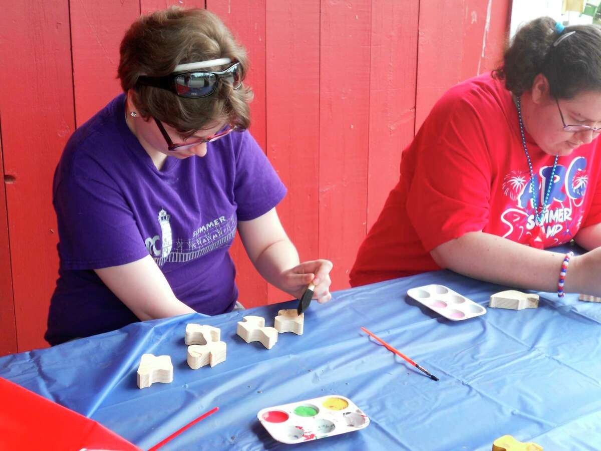 TheCircle Rocking S Children's Farm in Free Soil hosted a special needs summer camp day on Monday for theManistee ARC Summer Camp program.Participants took part incraftsand other activities. (Courtesy photo)